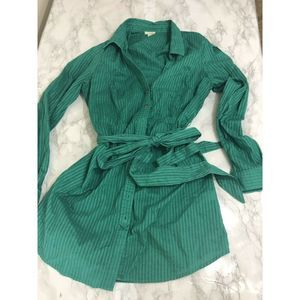 Odille Anthropologie Tie Waist Top Long Size 10
